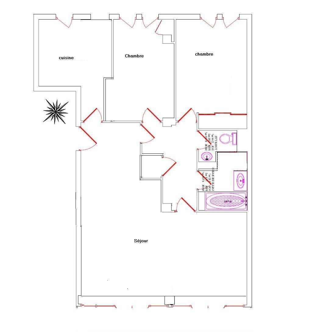 vente pre commercialisation 4 pi ces 70m m tro marcel sembat. Black Bedroom Furniture Sets. Home Design Ideas